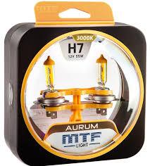 Комплект галогенных <b>ламп MTF Light H7</b> 12V 55W AURUM 3000K