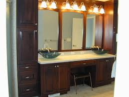 wood bathroom mirror digihome weathered: modern wall mounted bathroom vanity with double drawers and under glass sink design also beautiful light fixtures feat occasional stool idea