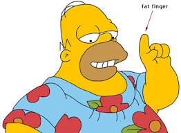 Image result for homer fat fingers on the phone gif