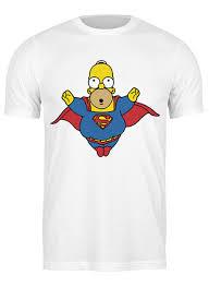 <b>Футболка классическая</b> Гомер Супермен #726880 от coolmag по ...