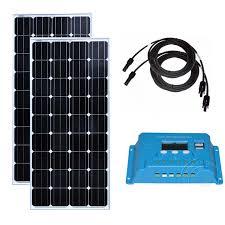 <b>Panneau Solaire Monocristallin 300wat</b> Solar Panel 12v 150w 2Pcs ...
