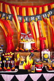Firefighter Cupcake Decorations The Coolest Fireman Party Ever Sunshine Parties