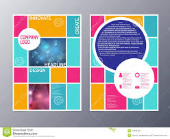 abstract colorful flyer design template vector a stock vector abstract colorful flyer design template vector a4