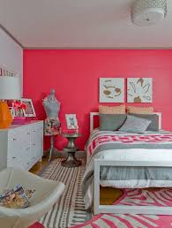 m charming bedroom design for teenage girls with white painted solid pine wood bed frame on cute pink zebra print rug and white high gloss lacquer finish charming bedroom ideas red