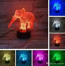 3d elephant shape table lamp