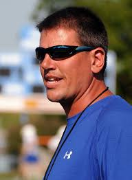 Nazareth Area High School football coach Rob Melosky with the Blue Eagles. Nazareth Area High School football coach Rob Melosky with the Blue Eagles - 14170671-standard