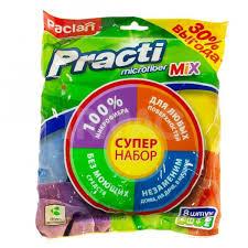 Набор <b>салфеток</b> для уборки <b>Paclan Practi</b> Microfiber <b>Mix</b> (8 шт ...