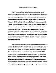 mahatma gandhi    s effort for freedom   gcse history   marked by    page  zoom in