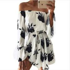 <b>LOSSKY Women</b> Summer 2018 Beach <b>Floral</b> Boho Dress Loose ...
