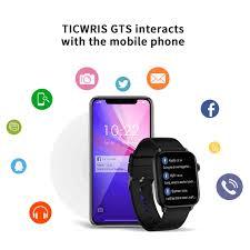 <b>TICWRIS GTS Real Time Body</b> Temperature Smart Watch Heart ...
