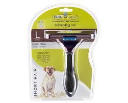 <b>furminator</b> large <b>short haired</b> dog deshedding tool metallic bronze