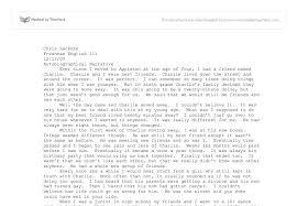 sample autobiography essays autobiographical essay example