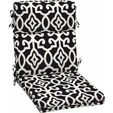 better homes and gardens outdoor dining chair cushion black tile black patio chair cushions
