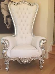 absolom roche chair silver white leatherette client photo beauty room furniture