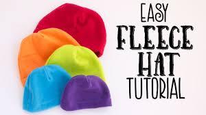 Easy Fleece Hat Tutorial (Free Pattern) - YouTube