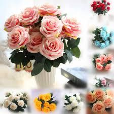 Champagne artificial silk flower flowers A <b>bouquet</b> peony <b>13 heads</b> ...
