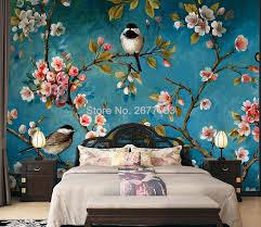 Custom <b>Wall</b> Cloth <b>European Style Flowers</b> Birds Oil Painting ...