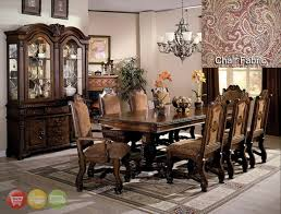 Formal Dining Room Sets With China Cabinet Neo Renaissance Formal Dining Room Set Table 6 Side 2 Arm Chairs