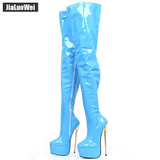 <b>Jialuowei Brand</b> 22CM Extreme High Heel Gold Metal Heel Platform ...