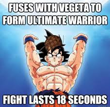 Fuses with vegeta to form ultimate warrior fight lasts 18 seconds ... via Relatably.com
