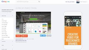 crayon design search engine goes mobile to generate inspiration a design might be interesting because of page characteristics or because the page has traction like a high alexa rank or social media punch or because