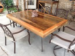 diy patio furniture tabletop made from reclaimed deck wood buy diy patio furniture