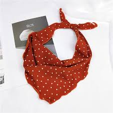 33*85cm <b>Fashion Women Scarf Silk</b> Wraps Elegant Dot Print Head ...
