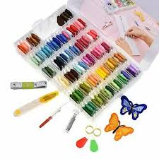 <b>Looen</b> 100 Colors <b>Embroidery</b> Floss with Organizer Storage Box ...