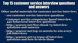 top 15 customer service interview questions and answers video 02 04