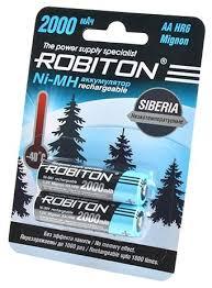 <b>Аккумулятор Ni</b>-<b>Mh</b> 2000 <b>мА</b>·<b>ч</b> ROBITON Siberia AA HR6 Mignon ...