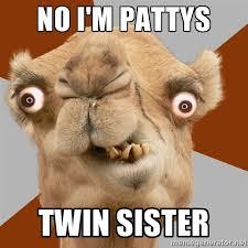 No I'm Pattys Twin sister - Crazy Camel lol | Meme Generator via Relatably.com