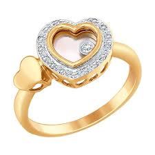 <b>Кольцо</b> из <b>комбинированного</b> золота с миксом камней <b>SOKOLOV</b> ...
