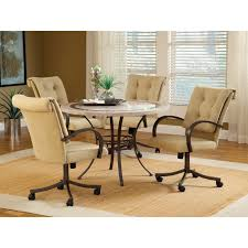Dining Room Chairs With Casters And Arms Kitchen Dinette Sets With Casters Chromcraft Like Made By Tempo