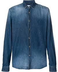 Shopping Special: Dondup stonewashed denim shirt - Blue
