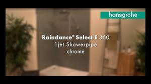 <b>hansgrohe Raindance E</b> Showerpipe 360 1jet with thermostat ...