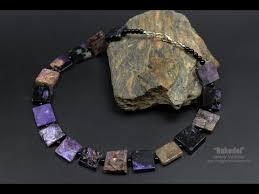 Ожерелье из натурального камня - <b>чароит</b>. Necklace of natural ...