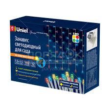 Фонарь садовый <b>Uniel</b> Multicolor Curtain <b>USL</b>-<b>S</b>-<b>132</b>/<b>PT1515</b> на ...