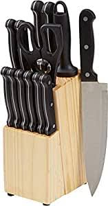 Buy AmazonBasics <b>Stainless</b> Steel <b>Knife Set</b> with High-Carbon ...