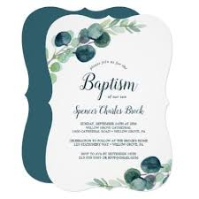 <b>Lush</b> Greenery and Eucalyptus <b>Baptism</b> Invitation | Zazzle.com in ...