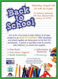 best photos of examples flyers of school school event flyer back to school supply drive flyer template
