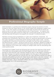 bio resume examples   Template Biography  Winnipeg     s Andrew McCrea is an award winning creative professional who specializes in journalism  creative writing  photography  videography