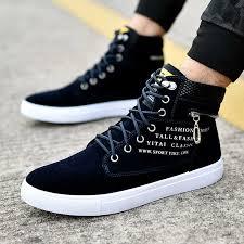 Fashion Men Shoes <b>New</b> Men Casual Shoes <b>High Top</b> Sneakers ...