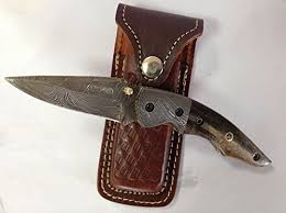 <b>Infantry Pocket Knife</b> Damascus Steel Bla- Buy Online in Grenada at ...