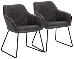 WOLTU Grey Kitchen Dining <b>Chairs</b> Set of <b>2 PCS</b> Counter Lounge ...