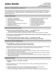 Example Resume  Medical Resume Templates Free With Education And Certification For Career History  Medical