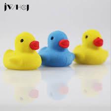 <b>2 pcs</b> JWHCJ novelty Yellow duck shape rubber eraser <b>kawaii</b> ...
