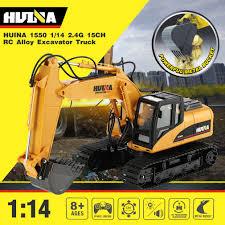 <b>HUINA 1550 RC Crawler</b> Car 15CH 2.4G 1:14 RC Metal Excavator ...
