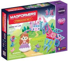 <b>Магнитный конструктор MAGFORMERS Princess</b> Set (56 деталей ...
