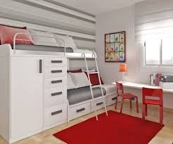 interesting bedroom space saving furniture design with white bunk bed and white ladder also storage white beauteous kids bedroom ideas furniture design