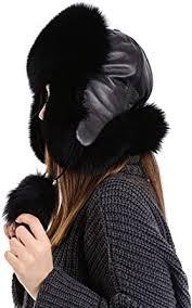 Zavelio Unisex <b>100</b>% <b>Real Fox</b> Fur Hat S-XL Premium Aviator ...